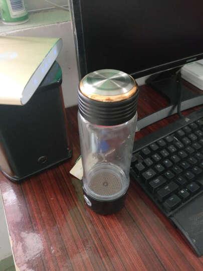 华阳新利 水素杯富氢水杯高浓度日本水素水杯充电便携水杯生成器电解水杯碱性养生杯 201款黑色 晒单图