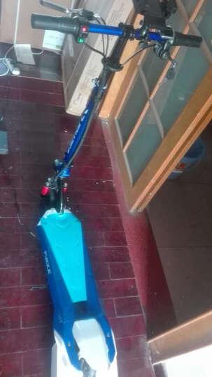 普卡(pukka)锂电池滑板车代驾自行车便携折叠电动滑板车代步车迷你电瓶车电动滑板车成人折叠 激光蓝 15公里续航 晒单图