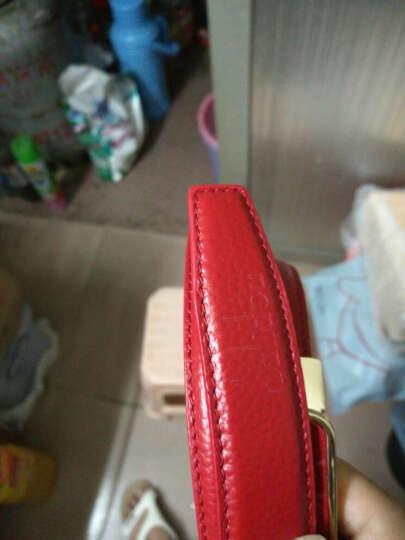 达利都dalidou 头层牛皮皮带女真皮女士腰带自动扣女士休闲时尚裤带 韩版红色腰带女式白色腰带 NS-09 红色 晒单图
