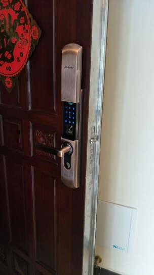 凯迪仕(KAADAS) 凯迪仕 指纹锁密码锁智能锁电子锁家用防盗门锁 9113 香槟金双开门 晒单图