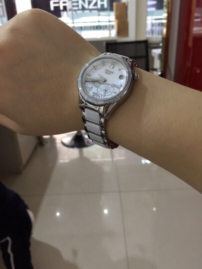 尼尚(Nesun)女士手表 全自动机械女士表荷塘月色镂空女表 陶瓷时尚女式腕表 石英表玫金白面LS9072-MBM 晒单图
