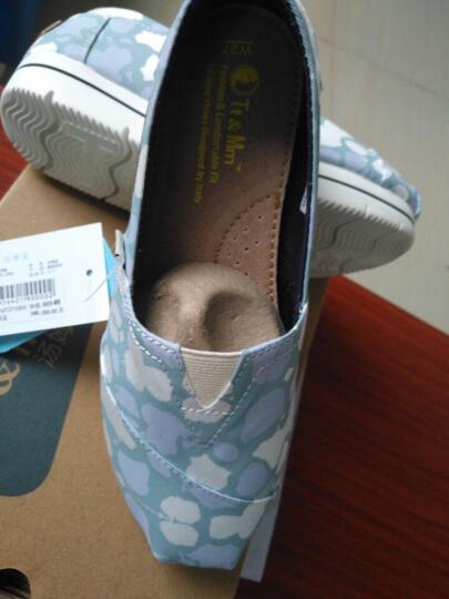 汤姆斯女鞋夏季透气帆布鞋女2019新款厚底蕾丝鞋子女单鞋一脚蹬懒人鞋休闲学生平底时尚女鞋 白色(TM631103W) 36 晒单图