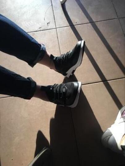 古洋城运动休闲鞋男士板鞋增高男鞋子潮鞋冬季高帮鞋加绒保暖棉鞋男权志龙款学生青少年鞋秋季韩版 GYC17020-黑色(袜子鞋) 42 晒单图
