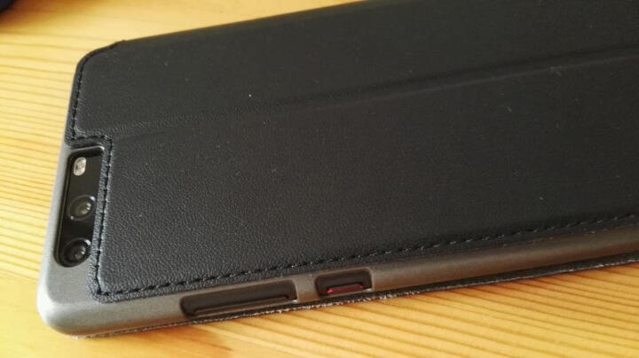 Freeson 华为P10 Plus皮套/视窗智能休眠保护套/P10plus手机壳 黑色 晒单图
