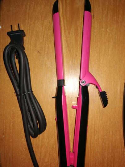奔腾(POVOS) PW239  二合一多功能卷发美发器 卷发棒直发器 卷直两用 玫瑰红 晒单图