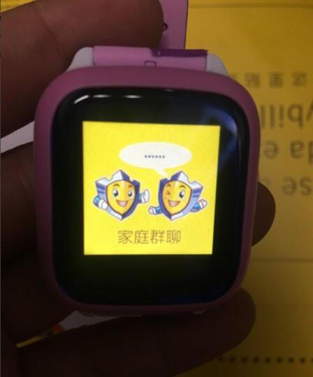 亦青藤 儿童电话手表学生触屏插卡360度智能gps定位男孩女兼容安卓苹果 学习版+粉白(防水+学习资料) 晒单图