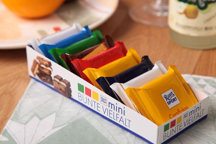 德国进口 瑞特斯波德迷你七彩什锦巧克力夹心牛奶巧克力 进口食品 七彩什锦巧克力150克 晒单图