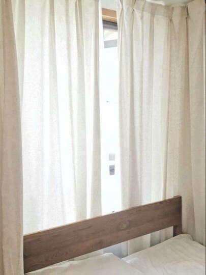 润兰亚麻纯色窗帘棉麻北欧窗纱美式简约客厅定制成品遮光日式麻料纱帘 卡其色 一米布(挂钩加工) 晒单图