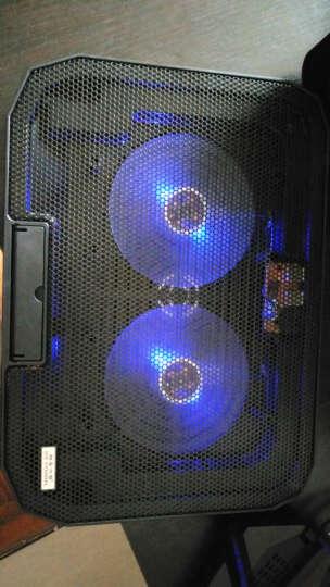 酷睿冰尊(ICE COOREL) 酷睿冰尊 笔记本散热器 电脑散热支架 电脑散热底座垫 蓝色豪华版【 炫光带调速 五档支架】 晒单图