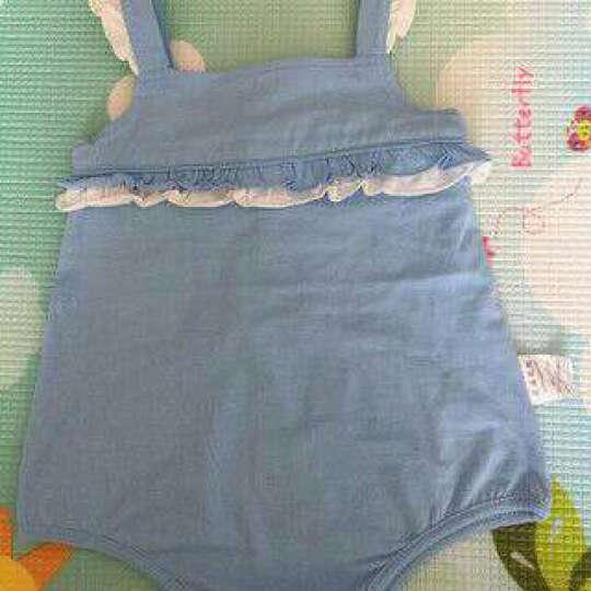 芝麻馄饨(ZHIMA&HUNTUN) 婴儿衣服新生儿吊带宝宝连体衣背心哈衣爬服0-3岁女童 粉色(61017) 66cm(3-6月) 晒单图