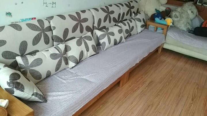 富饶地带(FURAODIDAI) 富饶地带全实木沙发组合现代简约新中式贵妃转角橡木沙发 原木色(四人位+贵妃位)送抱枕 组合 晒单图