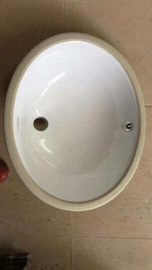 陶瓷洗面盆浴室台下盆嵌入式椭圆形方形洗手脸洗脸盆艺术盆石下盆洗漱台洗脸池洗面台洗簌洗手盆 正圆15寸只有盆(无五金配件) 晒单图