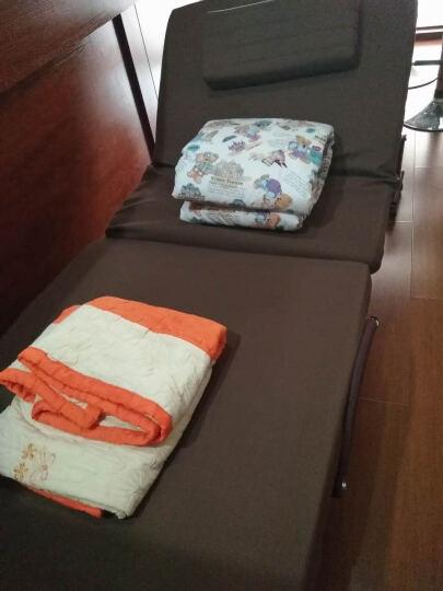 欧莱特曼3D床垫折叠床 单人双人办公室午休午睡床孕妇休息陪护床 PU咖啡色 80x192x35cm 晒单图