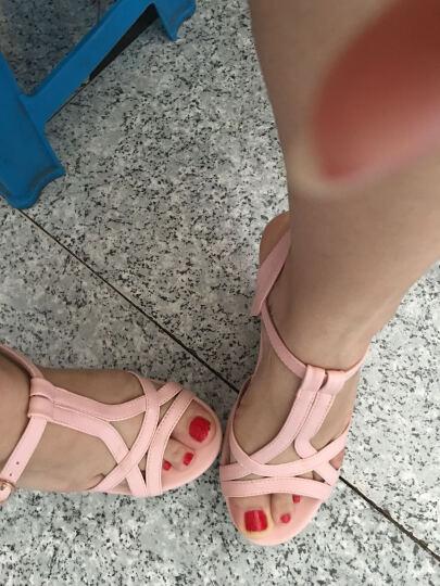 正如凉鞋女2017夏季新款女士高跟凉鞋超防滑厚底防水台学生坡跟鱼嘴露趾罗马女凉鞋162-3 白色 默认39 晒单图