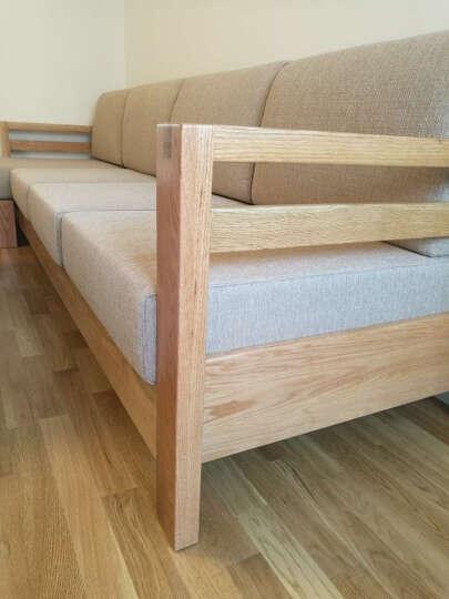 爱莱家 沙发 实木沙发 转角沙发 小户型组合沙发北欧原木家具白橡木沙发08 三人位+贵妃位+双抽茶几+双门电视柜 FAS级白橡木 晒单图
