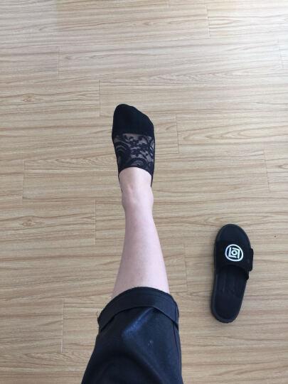 北极绒女船袜春夏蕾丝薄款浅口短袜透气防滑隐形女袜子低帮冰丝袜 2黑2白蕾丝隐形女袜 晒单图