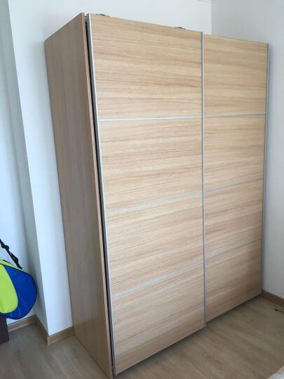 鼠米 家居衣柜 简约现代外挂门衣橱 帕克思移门原木推拉门大衣柜定制定做 宽度1.6米x高度2.4米衣柜 晒单图
