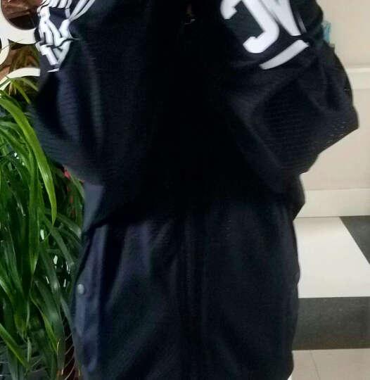 中国李宁运动外套女2019春夏新品运动风衣夹克连帽休闲运动服透气轻薄皮肤衣 夹克024-2黑印花 女 XL (175/96A) 晒单图