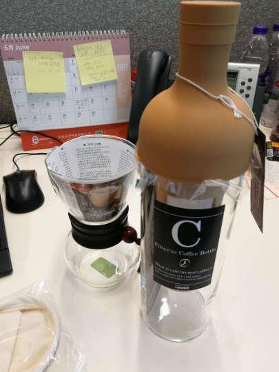 HARIO-日本原装进口咖啡壶法兰绒布过滤咖啡壶套装 配法兰绒布和量勺 DPW系列咖啡器具 240ml黑色原木 晒单图
