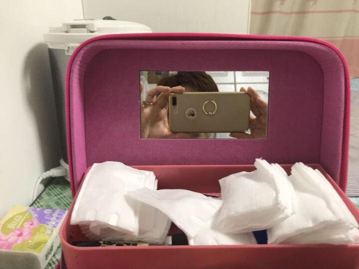 韩版大容量化妆箱女化妆包洗漱包化妆盒手提式化妆包化妆品收纳盒首饰盒女户外旅游收纳盒便携防水 萌猫蝴蝶粉四开 晒单图