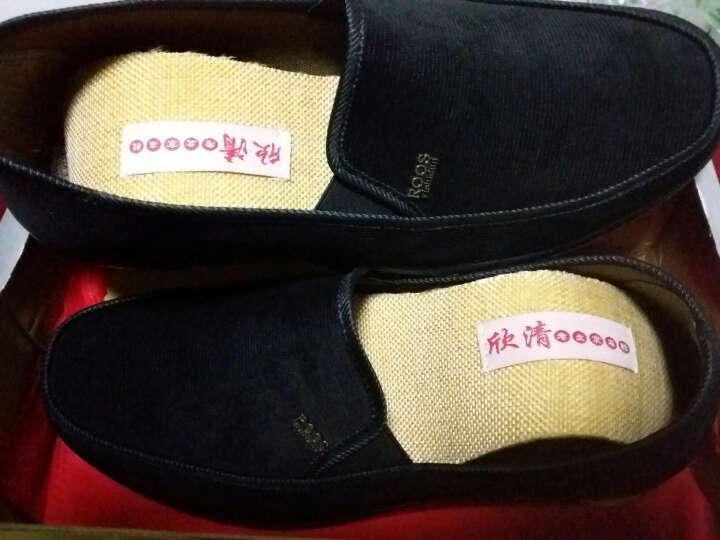 欣清老北京布鞋男鞋舒适休闲单鞋透气平底驾车鞋黑色工作鞋 1215 军绿色 42 晒单图