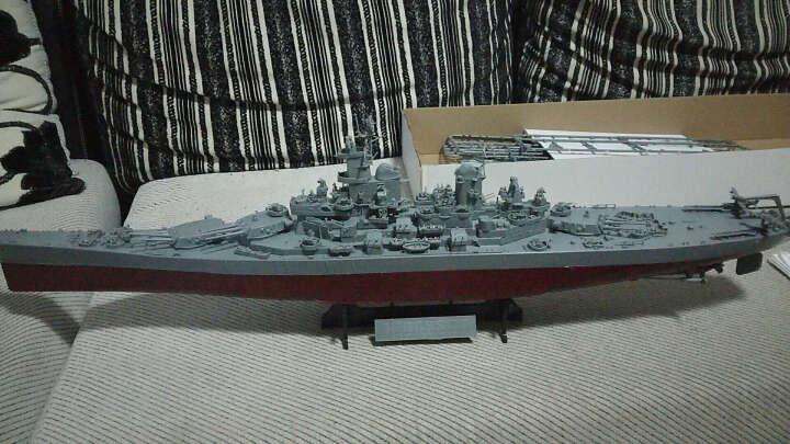 小号手拼装军舰仿真模型拼装1/350 战舰世界军舰船模俾斯麦号战列舰提尔皮茨密苏里模型船 80604密苏里 晒单图