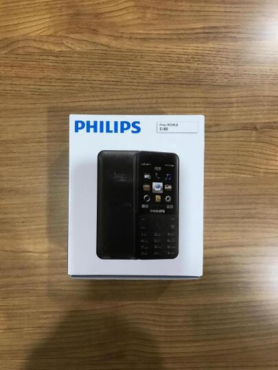 飞利浦(PHILIPS) E180 经典黑 时尚直板 超长待机 移动联通2G 双卡双待 老人手机 学生备用功能机 晒单图