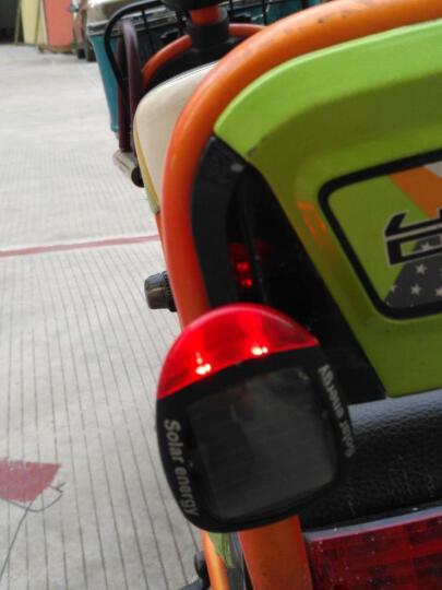 美蒂亚摩托车灯电动车灯自行车尾灯 太阳能尾灯山地车夜骑爆闪警示灯 爆闪无需充电 单车配件 黑色红光 一个装 晒单图