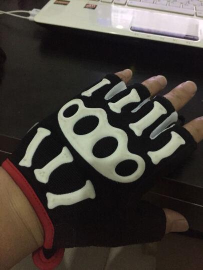 思帕客(spakct) COOL006指关节骑行手套 骷髅手套 自行车露指手套 白色XL码 晒单图