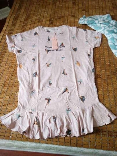 梦米诺秋季长袖女士纯棉睡衣可爱女宽松睡裙韩版长款家居服 6360 女士M(160/84A) 晒单图