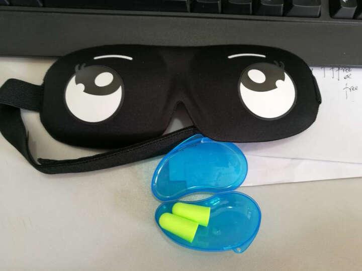 名典上品 眼罩 透气遮光睡眠眼罩 3D舒适款+防噪音睡眠耳塞(2枚) 傻白甜 晒单图