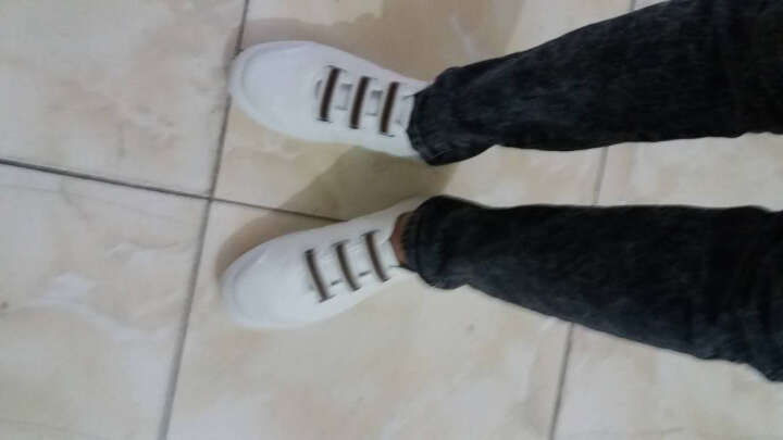丹杰仕-夏季男装青年懒人白色无鞋带帆布鞋红色休闲走步远动板鞋配牛仔裤 黑色 39码 晒单图