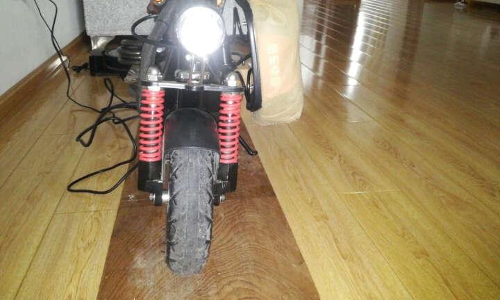 半驴L1成人电动滑板车专用前轮轮胎8英寸 加宽 黑色 黑色 8英寸 晒单图