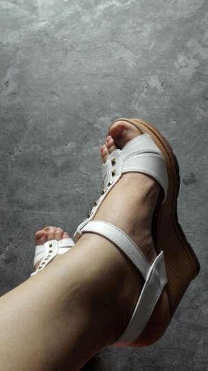 鱼嘴凉鞋女2019新款春季网纱高跟鞋粗跟单鞋仙女风百搭女士高帮鞋 黑色/细网纱 37 晒单图