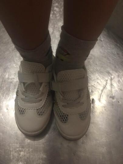 漫步者童鞋男女儿童凉鞋夏20172017潮新款包头学步鞋男童沙滩鞋女孩机能鞋 白色001 30 晒单图