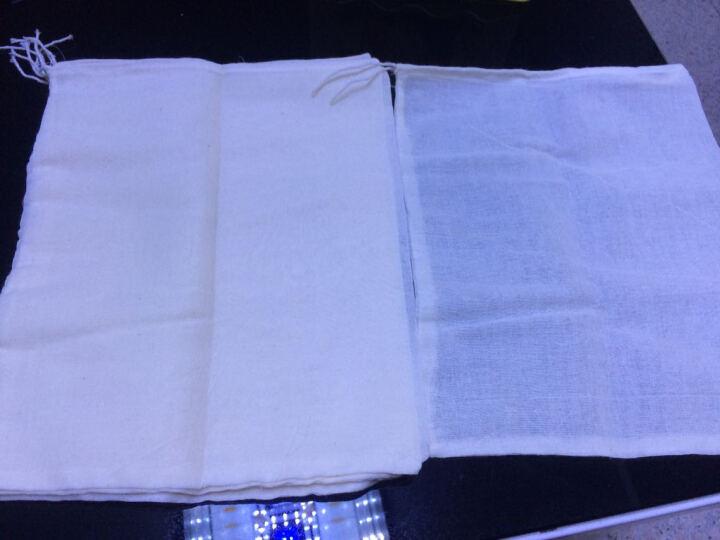 纱布袋调料包过滤袋茶包袋中药袋煎药袋煲汤袋煲鱼袋隔渣袋 100个20*30无纺布抽线 晒单图