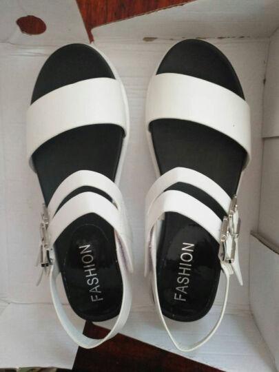 夏季女童大童初中生少女小学生凉鞋韩版平底双带扣女凉鞋10-15岁X 208黑色 37 晒单图
