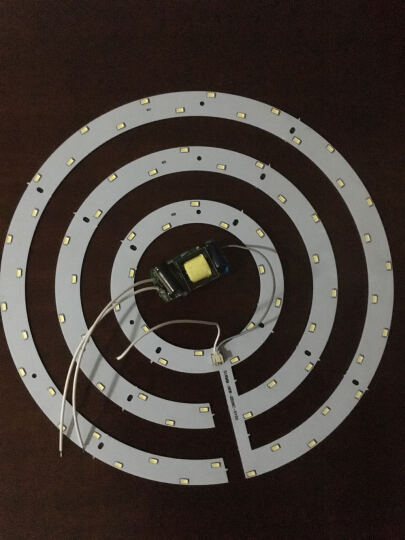 亮昀美 LED吸顶灯改造灯板环形灯管光源改装套件5730 GZD002 12W暖白光 晒单图