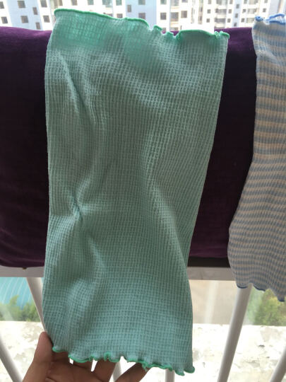 千趣会 BABY婴儿男女双层护肚围小物两色组GITA A75812 薄荷绿/蓝色 19*16 晒单图