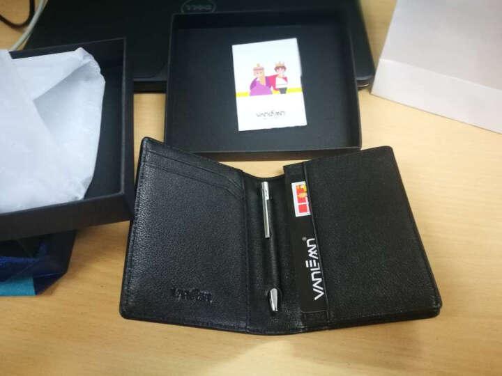 丹麦Vanlemn梵勒真皮名片包男女银行证件包驾驶证套牛皮多功能时尚名片夹零钱包卡包夹送领导 晒单图