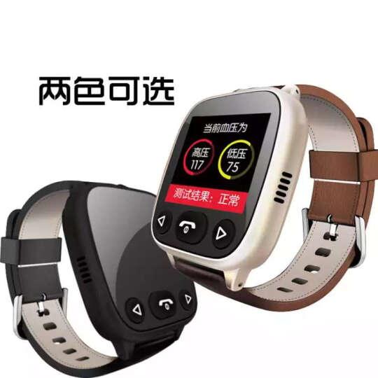 希比希 【关爱老人】老人智能电话手表学生手机成人防水多功能GPS定位器血压心率健康小米手环手表式 心率血压-典雅黑 晒单图