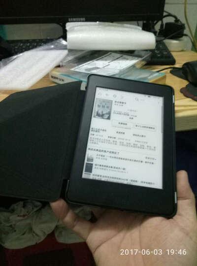 亿色(ESR)Kindle电子书958保护套/壳 899版Paperwhite3/2/1防摔折叠支架休眠皮套 悦色系列 魔力黑 晒单图