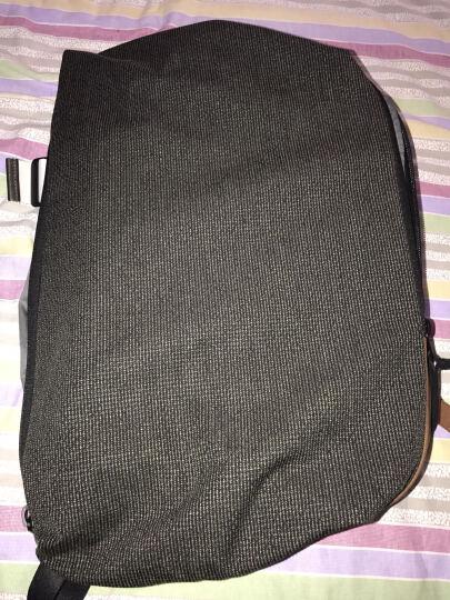 法国cote&ciel高迪斯奥Isar TwinTouch拼色双肩背包筆记本电脑包旅行包 格子灰绿-真皮-28021 15寸 晒单图