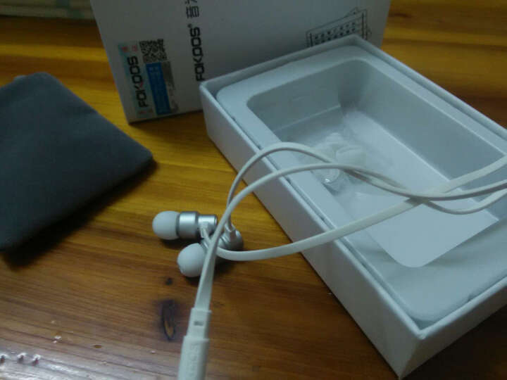 FOKOOS X5全金属入耳式音乐游戏耳机 通用重低音线控带麦面条线手机耳机HIF耳麦降 银白-带麦 晒单图
