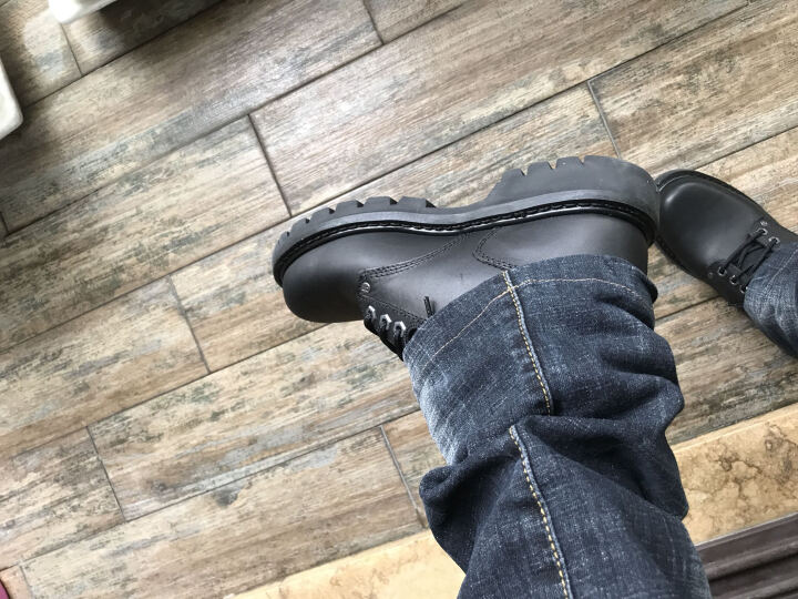 卡特/CAT 欧美经典高帮皮质耐磨男鞋大黄靴 P70042 P70043黑色 美码7.5(40.5码) 晒单图