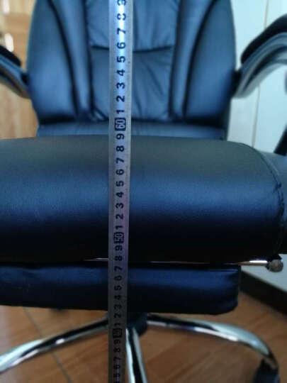 绿豆芽 电脑椅 家用 可躺老板椅 办公椅 皮椅 可选牛皮椅子 人体工学转椅座椅D1518 黑色pu皮+170度可躺+搁脚 钢制脚 晒单图