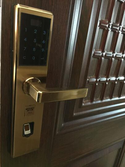 ANNEX 安力狮指纹锁智能锁家用门锁电子锁指纹密码锁防盗门锁远程APP 微信开锁 不锈钢+送智能猫眼/报警锁芯/智能门磁 晒单图