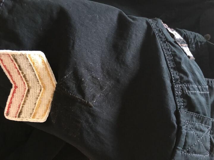 踏普/TAPOO 短袖衬衫男宽松大码夏季纯棉休闲短袖衬衫男式军装衬衣服2017 1001军绿色 XXL 晒单图