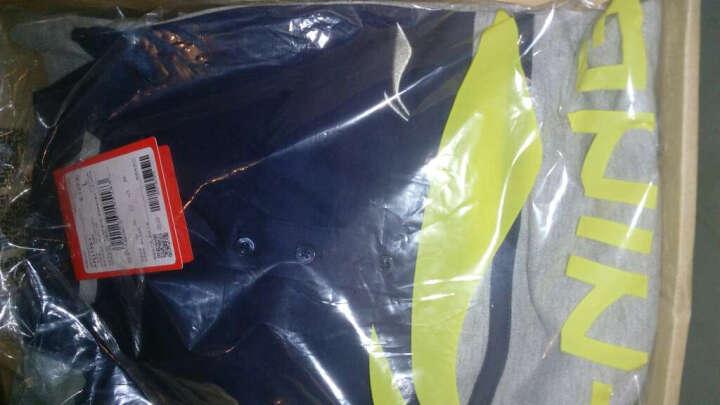 李宁官方运动时尚系列男子短袖POLO衫APLL133-1/-2/-3 深豌蓝/基础白 L 晒单图