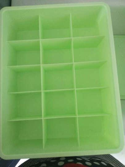 双飞蝶 收纳箱 内衣收纳盒塑料抽屉内裤袜子内衣盒整理盒可水洗三件套收纳用品 有盖 绿色三件套三盖 晒单图